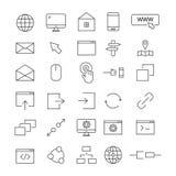 Wierzchołka 30 sieci Kreskowe ikony Obraz Stock