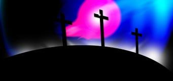 wierzy, że krzyżowa religii ilustracja wektor
