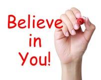Wierzy w tobie Obraz Stock