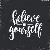Wierzy W Ty Inspiracyjna wektorowa ręka rysujący typografia plakat T koszulowy kaligraficzny projekt Zdjęcie Stock