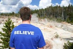 Wierzy w Yellowstone parku narodowym Obraz Royalty Free