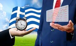 Wierzycielski przedstawienie termin, analiza i sporządzamy mapę, kryzys finansowy Zdjęcie Stock