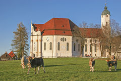 Wies Church in Pfaffenwinkel Royalty Free Stock Photo