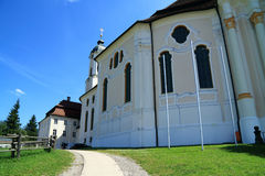 Wies pilgrimage church- Wieskirche in Beieren Germany Royalty Free Stock Images