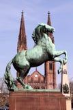 Wiesbaden. St Bonifatius church in Wiesbaden, Hesse, Germany royalty free stock photo