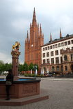 Wiesbaden cathedral Stock Photography