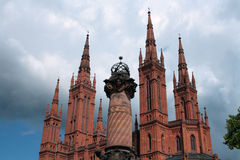 Wiesbaden Cathedral detail Stock Image