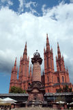 Wiesbaden Cathedral square Stock Image