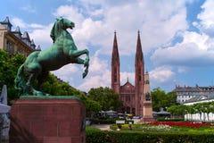 Wiesbaden Deutschland lizenzfreies stockbild