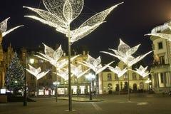 Wiesbaden en Alemania durante la Navidad Foto de archivo