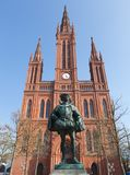 Wiesbaden Marktkirche and Prince Stock Photos