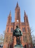 Wiesbaden Marktkirche and Prince Stock Photos