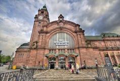 Wiesbaden Railway Station Stock Photo