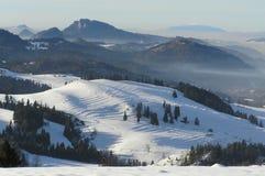 Wiese auf einer Steigung eines Berges Lizenzfreie Stockbilder