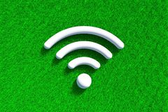 Wiese grünen Grases Wi-FI Lizenzfreie Stockbilder