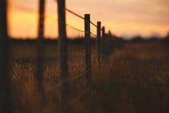 Wiese und Zaun in Süd-Island Lizenzfreies Stockbild