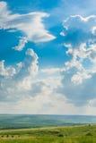 Wiese unter dem blauen Himmel Lizenzfreies Stockbild