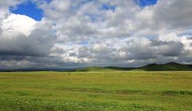 Wiesen in Innere Mongolei China Stockfotos