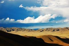 Wiesen in Tibet Stockfoto