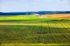 Wiesen und Felder Lizenzfreies Stockfoto