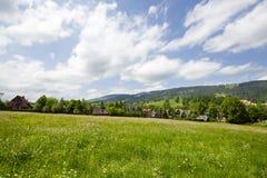 Wiesen und Felder in der Stadt von Zakopane Stockfoto