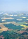 Wiesen und Felder. Luftbild. Lizenzfreie Stockfotos