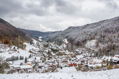 Wiesensteig Baden-Wurttemberg, Germany in winter Stock Image