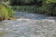 Wiesent river at the Franconian Alb, in Southern Germany. Royalty Free Stock Photos