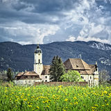 Wieskirche在巴伐利亚德国 免版税图库摄影