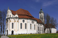 Wieskirche. The Bavarian Wieskirche is one of the most famous places of pilgrimage in Germany Stock Image