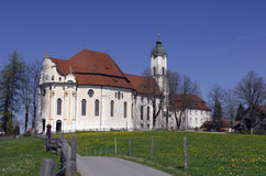 Wieskirche. The Bavarian Wieskirche is one of the most famous places of pilgrimage in Germany Stock Photo