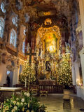 Wieskirche Altar. Altar of Wieskirche (Pilgrimage Church of Wies in English), World Heritage church in Bavaria, Germany Stock Images
