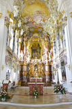 Wieskirche in Bavaria. Church named Wieskirche in Bavaria is a world famous landmark and UNESCO heritage Stock Photos