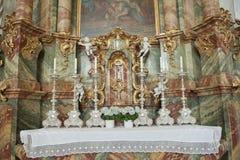 Wieskirche church in Germany,Europe. Stock Photos