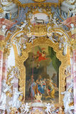 Wieskirche church, Steingaden in Bavaria,Germany. Royalty Free Stock Photos