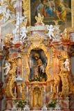 Wieskirche church, Steingaden in Bavaria,Germany. Stock Photos