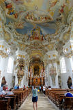 Wieskirche church, Steingaden in Bavaria,Germany. Stock Images