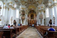 Wieskirche church, Steingaden in Bavaria,Germany. Stock Image