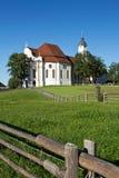 Wieskirche della chiesa Fotografia Stock Libera da Diritti
