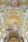 Wieskirche kościół, Steingaden w Bavaria, Niemcy Obraz Stock