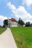 Wieskirche kyrktar, Steingaden i Bayern, Tyskland Arkivfoton