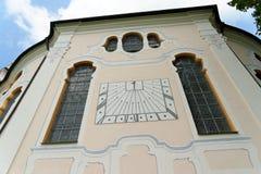 Wieskirche kyrktar, Steingaden i Bayern, Tyskland Arkivfoto