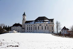 The Wieskirche near Steingaden in winter Royalty Free Stock Image
