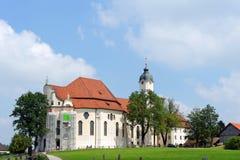 Церковь Wieskirche, Steingaden в Баварии, Германии Стоковое Изображение RF