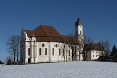 Wieskirche in Winter Stock Photos