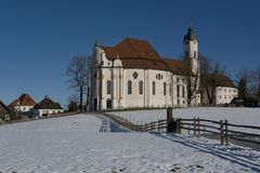 Wieskirche in Winter Royalty Free Stock Images
