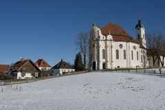 Wieskirche in Winter Royalty Free Stock Photos