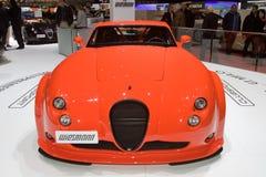 Wiesmann GT MF4-CS全球首演-日内瓦汽车展示会2013年 免版税库存图片