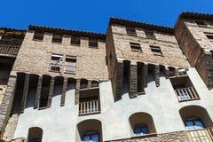 Wieszać domy w Tarazona De Aragon, Saragossa, Hiszpania fotografia stock