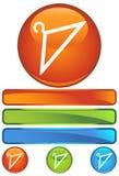wieszaka ikony pomarańcze Zdjęcia Stock